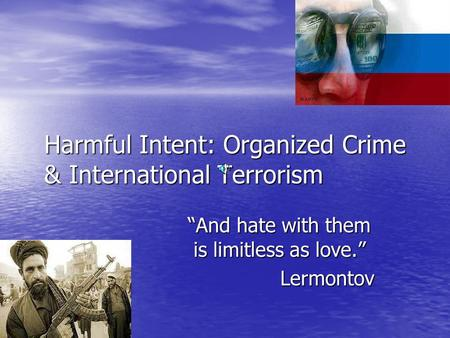 transnational crime and terrorism relationship advice