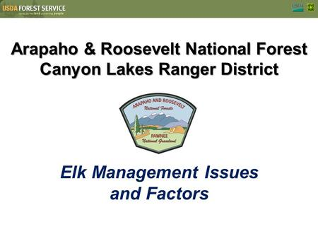Arapaho & Roosevelt National Forest Canyon Lakes Ranger District