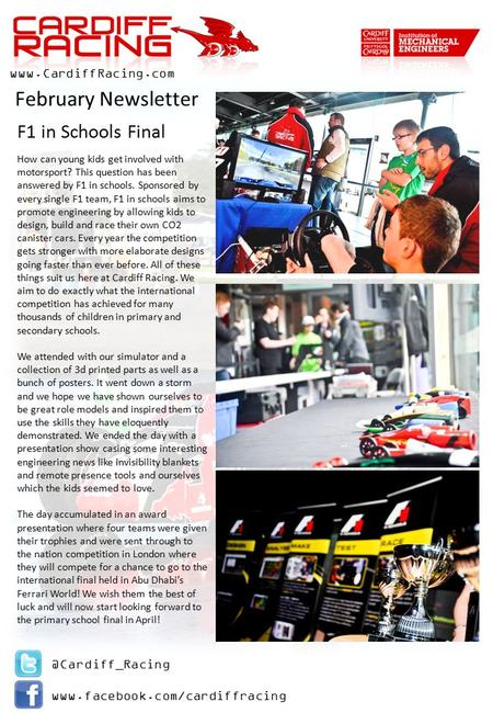 @Cardiff_Racing   How can young kids get involved with motorsport? This question has been answered by.