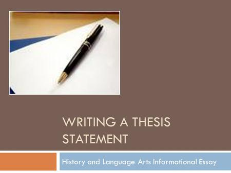 thesis antithesis synthesis in writing