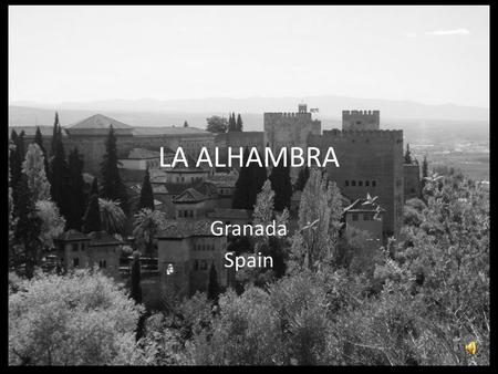 LA ALHAMBRA Granada Spain. The Alhambra is a palace and fortress complex of the Moorish rulers of Granada in southern Spain (known as Al-Andalus when.