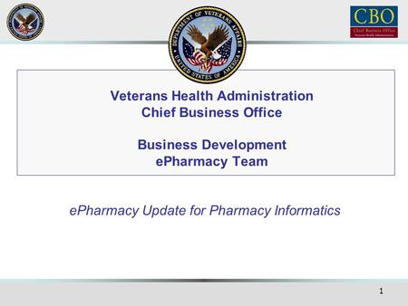 ePharmacy Update for Pharmacy Informatics