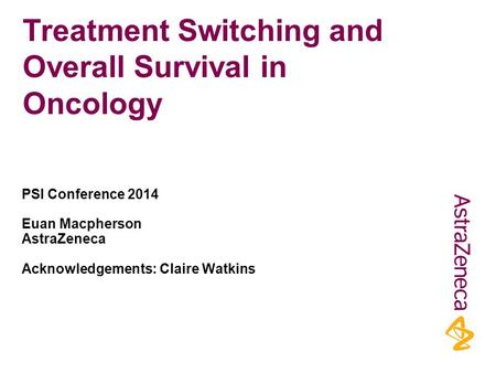 Treatment Switching and Overall Survival in Oncology