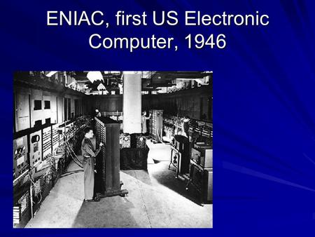 "ENIAC, first US Electronic Computer, 1946. ENIAC ""circuit board"""