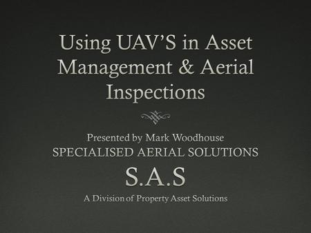 What is a UAV? An (Unmanned Aerial Vehicle) or commonly know as a Drone.