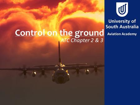 Control on the ground ATC Chapter 2 & 3.