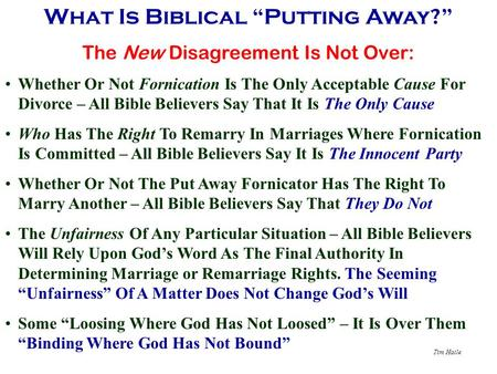 "What Is Biblical ""Putting Away?"""