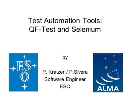 Test Automation Tools: QF-Test and Selenium