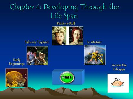 Chapter 4: Developing Through the Life Span