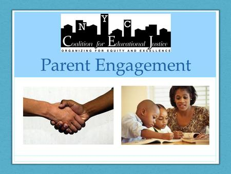 Parent Engagement. In Africa, the palaver tree is a large tree in whose shade the community gathers as partners with equal power to discuss issues, solve.