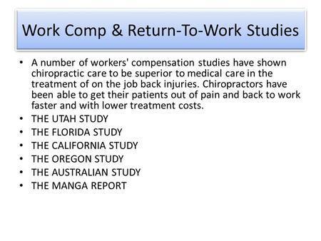 Back Injury Case Studies