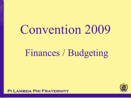 Finances / Budgeting Convention 2009.  Filing requirements changing annually until the 2010 tax year (Filed in 2011 and later)  Filing due on the 15.