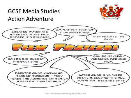 GCSE Media Studies Action Adventure Film Trailers