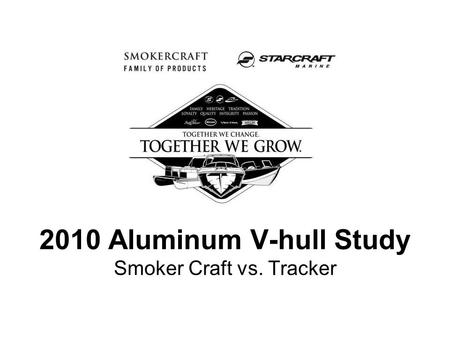 2010 Aluminum V-hull Study Smoker Craft vs. Tracker.