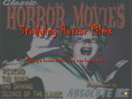 thrilling horror essay