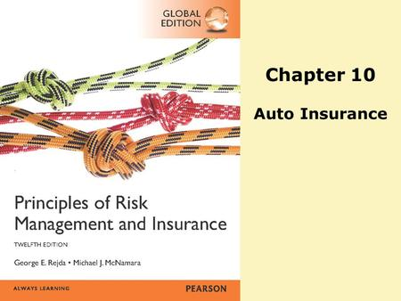 Chapter 10 Auto Insurance. Copyright ©2014 Pearson Education, Inc. All rights reserved.22-2 Agenda o Personal Auto Policy –Part A: Liability Coverage.