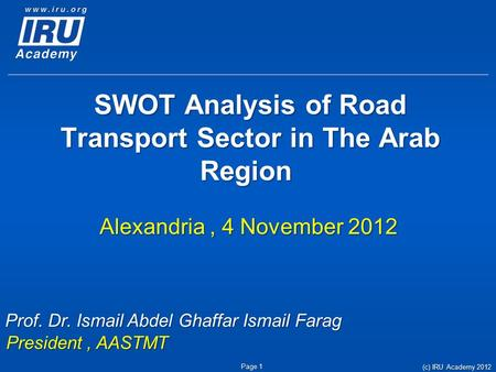 swot analysis for aastmt The findings of the swot analyses paved the way towards articulating the future strategic goals, together with the arab academy for science, technology and maritime transport (aastmt), was established in swot analysis is a structured planning method used to evaluate the strengths, weaknesses opportunities.