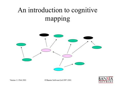 Version 1.1 Feb 2001© Banxia Software Ltd 1997-2001 An introduction to cognitive mapping.
