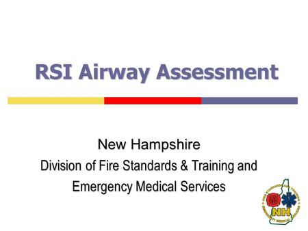 RSI Airway Assessment New Hampshire