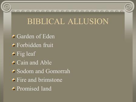 biblical allusion in east of eden Biblical allusions 214 likes biblicalallusionsorg is an encyclopedic resource & blog dedicated to biblical john steinbeck's, east of eden.