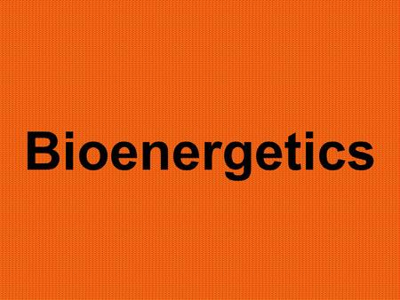 Bioenergetics. The Big Picture - energy flows through - matter recycles.
