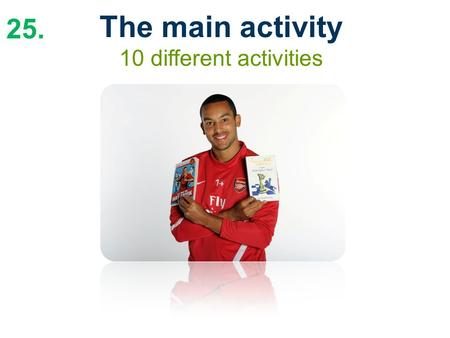 25. The main activity 10 different activities. 26. Supporting your fixtures The Premier League Reading Stars poster.