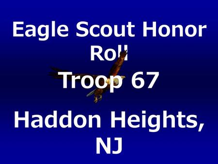 Troop 67 Haddon Heights, NJ