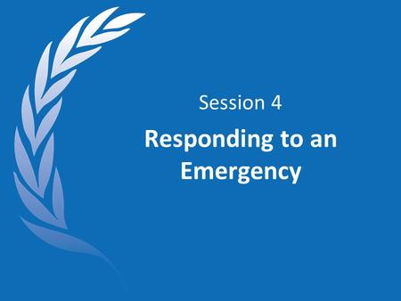Session 4 Responding to an Emergency. Objectives At the end of this session, you will: Be familiar with the RC/HC Handbook and the Emergency Checklist.
