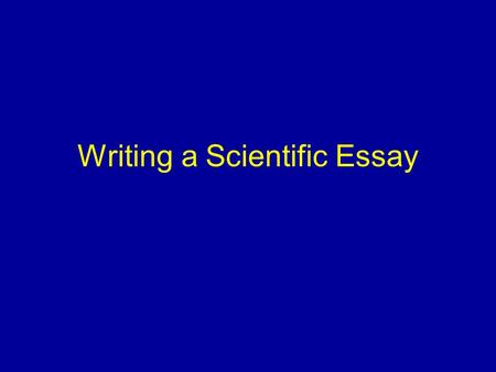 why and how referencing  this is very important for task  writing a scientific essay why write an essay because you have been told to