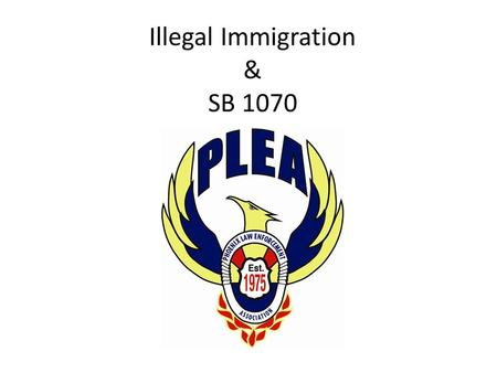 Illegal Immigration & SB 1070. Why Arizona Had to Act Illegal immigration is paid for by Arizona taxpayers F.A.I.R. - cost: $2.7 billion a year – Low.