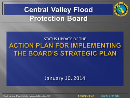 Draft Action Plan Update – Agenda Item No. 5D Central Valley Flood Protection Board.