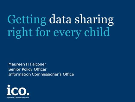 Getting data sharing right for every child