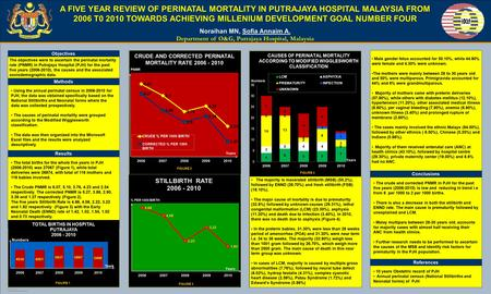 TEMPLATE DESIGN © 2008 www.PosterPresentations.com A FIVE YEAR REVIEW OF PERINATAL MORTALITY IN PUTRAJAYA HOSPITAL MALAYSIA FROM 2006 T0 2010 TOWARDS ACHIEVING.