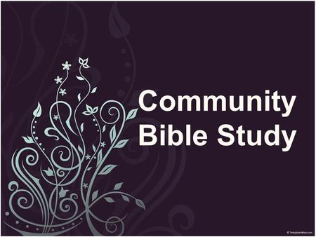 Community Bible Study. Give Me More! I. Fear and Trembling Part 1 A. Winepress B. Angel of the Lord C. Weakest – Don't Pick Me D. Obeyed Part 1 II.
