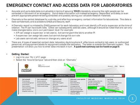 EMERGENCY CONTACT AND ACCESS DATA FOR LABORATORIES Accurate and up-to-date data is invaluable in terms of securing YOUR interests by ensuring the right.