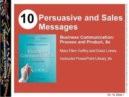 10 Persuasive and Sales Messages Business Communication: