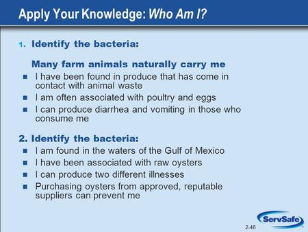 Apply Your Knowledge: Who Am I?