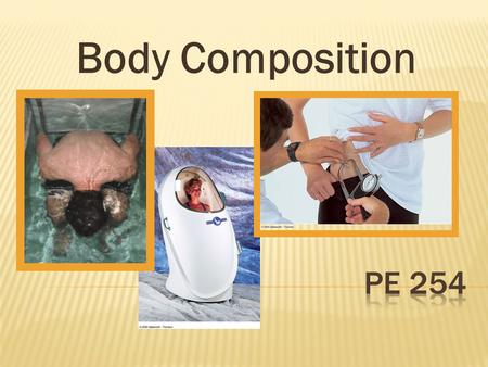 Body Composition.  Refers to the relative amounts of the different compounds in the body. Fat mass Fat-free mass  Why Study Body Composition? Overweight.