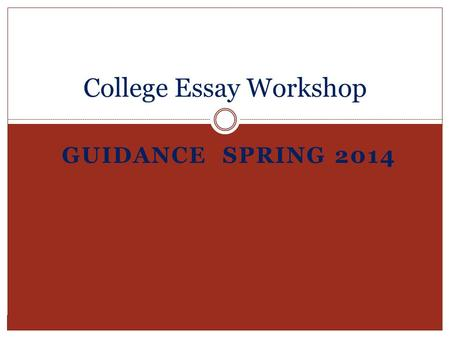 College application essay topics 2014