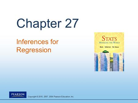 Inferences for Regression