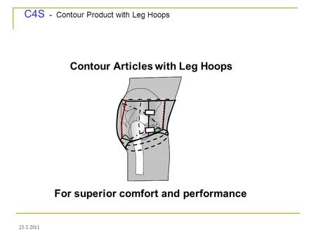 C4S - Contour Product with Leg Hoops 25.5.2011 Contour Articles with Leg Hoops For superior comfort and performance.