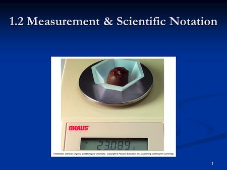 1 1.2 Measurement & Scientific Notation. 2 Measurement Measurement You make a measurement every time you Measure your height. Measure your height. Read.