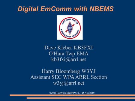 Digital EmComm with NBEMS