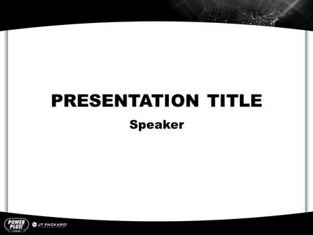 PRESENTATION TITLE Speaker. PRESENTATION TITLE Section Title  Insert copy here Section Title  Insert copy here Section Title  Insert copy here.