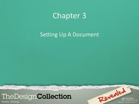 Chapter 3 Setting Up A Document.