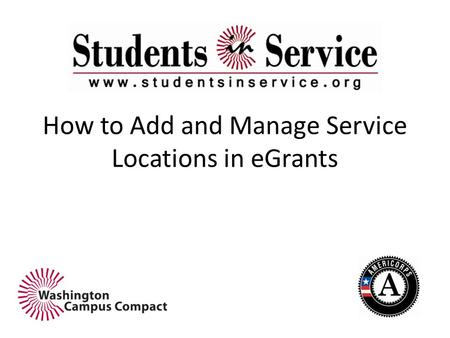 How to Add and Manage Service Locations in eGrants.