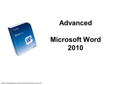 Advanced Microsoft Word 2010. On the File tab click New. Click on the type of Template you would like to use (i.e.: Faxes). Click on the specific template.