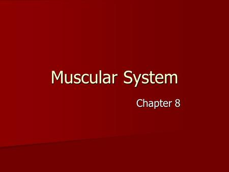 Muscular System Chapter 8. Introduction: A. All movements require muscle which are organs using chemical energy to contract. B. The three types of muscle.
