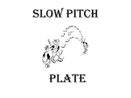 Slow pitch plate. PRELIMINARIES  The pitcher must take a position with both feet firmly on the ground and with one or both feet in contact with the pitcher's.