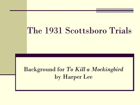 the social repercussions of the scottsboro trial